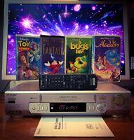 SONY SLV-ED95 NTSC PAL Quality VCR Recorder + Disney VHS Movies Bundle