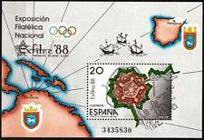 Spain 1988 Exfilna Citadel of Pamplona Military Map Miniature sheet