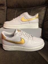9b31363b2958 Nike Air Force 1 Low Metallic Af1 Grey Gold Womens Size 12 Ar0642-001 Men s