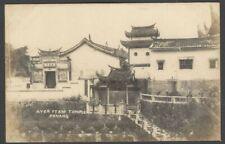 Malaya Ayer Itam Temple, Penang vintage real photo postcard