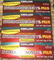 Kirkland HYDROCORTISONE 1% PLUS Anti-ITCH Cream. EXP- 02/2022. (4)- 2 OZ Tubes.