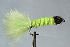 10 x Mouche peche Streamer Dognobbler Chartreuse H8/10/12 fly fishing mosca