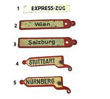 202M: Vintage Märklin Train Destination Signs Multi Listing