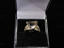Smokey Quarts 10K Gold Ring Size 7 Nice!!