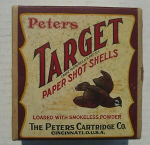 "Peters Target ""Quail"" two piece shotgun shell box, empty"