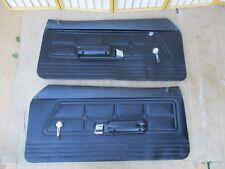 71-73 Genuine Ford Mustang Left & Right Complete BLACK Interior Door Panel SET