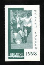 Bemidji State Beavers--1998 Soccer Pocket Schedule