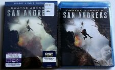 NEW SAN ANDREAS 2015 BLU RAY DVD 2 DISCS BEST BUY EXCLUSIVE LENTICULAR SLIPCOVER