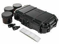SAFE LOCKER 420–Jet Black. Smell Proof case for Herbs with UV Safe Jet Black