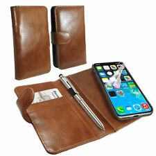 Tuff-Luv Leather Vintage Slim Wallet Case with Magnetic Shell & Stylus -iPhone X