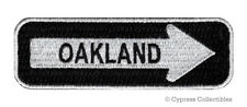 ONE-WAY SIGN PATCH OAKLAND CALIFORNIA EMBROIDERED iron-on TRAVEL EMBLEM APPLIQUE