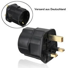 European 2Pin to UK 3 Pin Germany EU Plug Adapter Travel