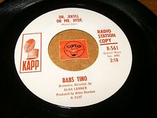 BABS TINO - DR JEKYLL OR MR HYDE - GREAT THINGS   / LISTEN - TEEN GIRL POPCORN