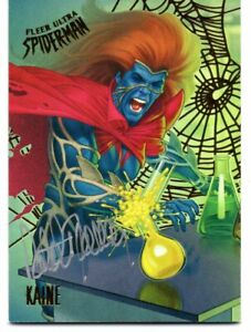 Spider-Man Fleer Ultra 2017 GOLD WEB FOIL AUTOGRAPH Card #91 / PATRICK FARICY