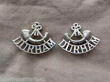 Original 1950s British Army Durham Light Infantry (DLI) Metal Shoulder Titles