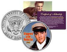 Elvis Presley - Movie *It Happened at the World's Fair* Jfk Half Dollar Us Coin