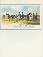 "1974 Vintage HORSE RACING ""FLYING DUTCHMAN vs. VOLTIGEUR"" COLOR Art Lithograph"