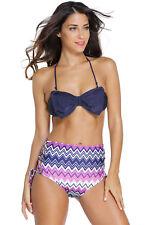Costume Da Bagno Bikini Fiocco Vita alta Lacci Plus Size Swimwear Swimsuit M