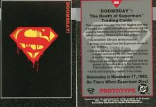 1992 DOOMSDAY THE DEATH OF SUPERMAN PROTOTYPE CARD # 000 BY SKYBOX