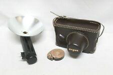 VTG Argus 35mm Rangefinder Film Camera w/ 50mm Lens & Flash near MINT condition