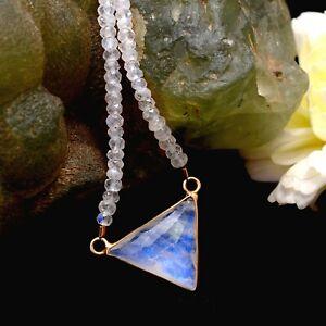 Moonstone Beads Necklace,Moonstone Jewelry,Moonstone Silver Beads Necklace