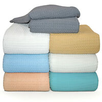 "Herringbone Basket, Soft Cotton Thermal Bed Blanket, 66""Twin-90""Queen-108""king"