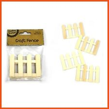48 X Wooden MINI Picket Fence 8.6cm | Craft Miniatures Doll House Fairy Garden