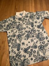 Vintage 90s Big Dog Clothing Co. Polo Golf Shirt Mens Sz XL Hawaiian Floral