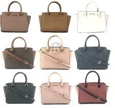 Michael Kors Selma Medium Top Zip Saffiano Leather Satchel Handbag