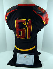 2011 Maryland Terrapins #61 Game Issued Black Jersey Dp01131