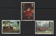 British 1967 British Paintings MNH set S.G. 748-750