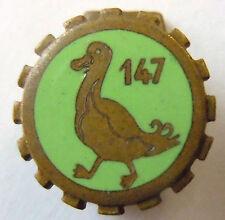 insigne boutonnière 1939 147° Train émail  miniature ORIGINAL WWII France