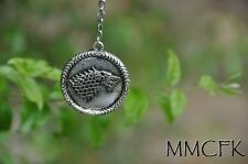 """Game of Thrones House of Stark Winter is Coming Necklace 30"""" Chain US Seller"""