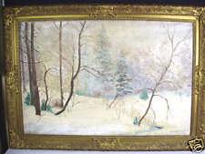 "American Impressionist Landscape Nevada snow  ""Winter Haze""  J Henry Hallberg"