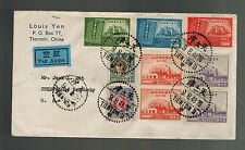 1948 Tientsin China Airmail Cover to USA