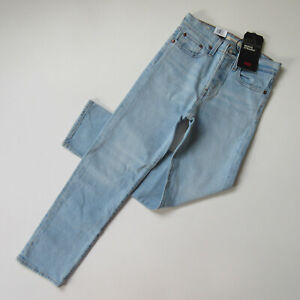 NWT Levi's Wedgie Straight in Dibs Heavyweight Denim Crop Jeans 24 $98