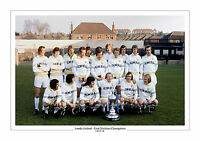 1974 FIRST DIVISION CHAMPIONS LEEDS UNITED TEAM A4 PRINT PHOTO REVIE TEAM UTD