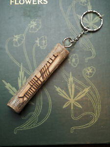 Oak Ogham Keyring for Strength & Courage - Pagan, Wicca, Charm, Ogam, Keychain