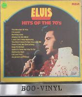 ELVIS PRESLEY - Hits of The 70s - VINYL LP - RCA LPL1 7527 - 1970s EX / VG+ CON