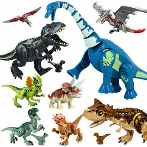 Large Full Size Rex Indominus Dinosaur Figure Building Blocks Fit Lego Toys Sets