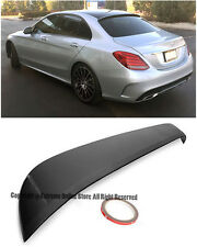 For 15-Up Mercedes Benz W205 C-Class 4Dr Sedan Black Rear Roof Wing Lip Spoiler
