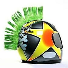 HAIRY R'S GREEN MOHAWK HAIR HELMET MOTORCYCLE MX ATV (HELMET NOT INCLUDED)