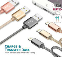 MFI Heavy Duty Apple Lightning USB Data Cable Charger fr iPhone X 6 6s 7 8 Plus