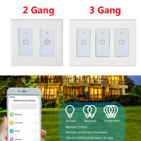 1/2/3 Gang Smart Home WiFi Touch Light Wall Switch Panel For Alexa / Google APP