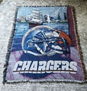 """Los Angeles Chargers Northwest Blanket 48""""x 60"""" - lightly used"""