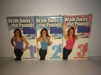 3 WALK AWAY THE POUNDS FOR ABS 1 2 3 MILES VHS 2001 Leslie Sansone SEALED