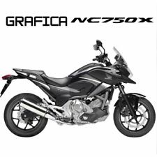 ADESIVI DECAL STICKERS HONDA NC750X NC 750 X RACIN CARENA GRAFICA BIANCO ARGENT