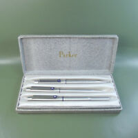 A Rare set of Iconic PARKER 25 Fountain pen, ballpoint pen, pencil in PARKER box