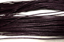 fil cordon coton ciré 1mm 50 mètres marron macramé scrapbooking bracelet