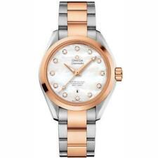Omega 231.20.34.20.55.001 Seamaster para mujeres 18kt Oro Acero Inoxidable Reloj